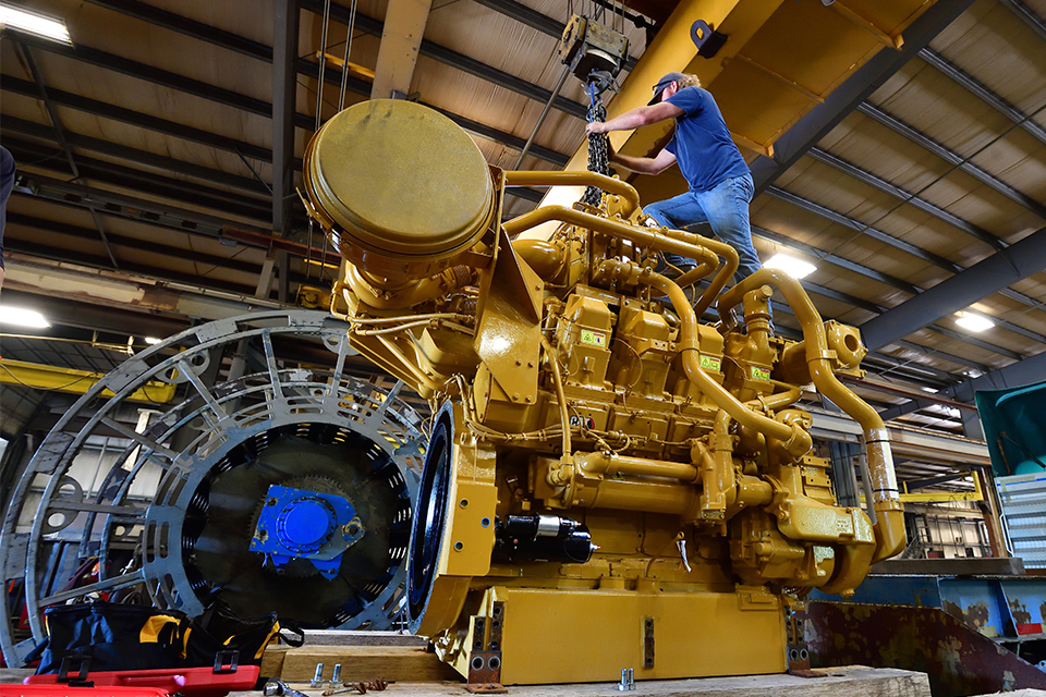 Caterpillar, Inc. has donated this powerful industrial natural gas engine to the Benjamin M. Statler College of Engineering and Mineral Resources.