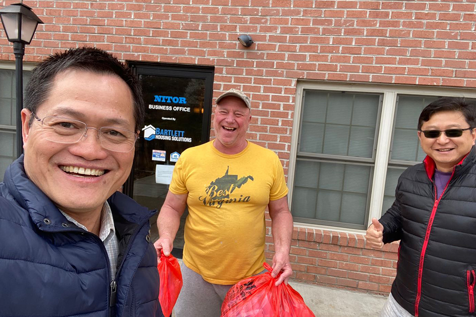 Morgantown's Chinese community donated $10,000 to help supply masks, face shields, gloves and more for WVU Medicine personnel on the front lines.