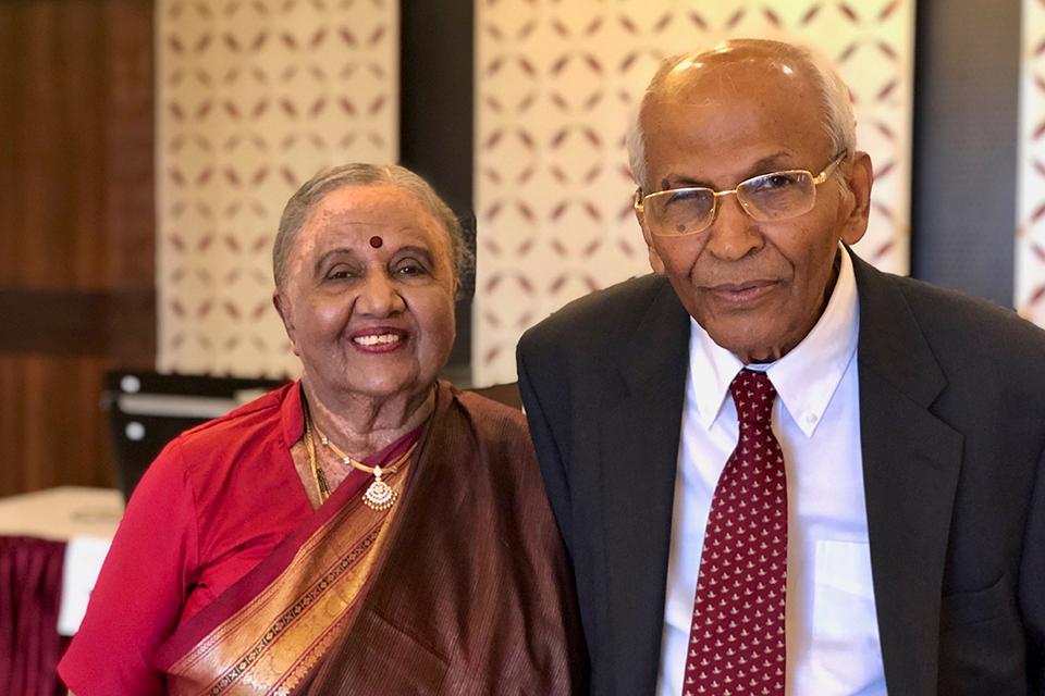 Vijaya and T.V. Ramakrishna contributed more than $400,000 to establish a scholarship that supports underrepresented students at WVU.