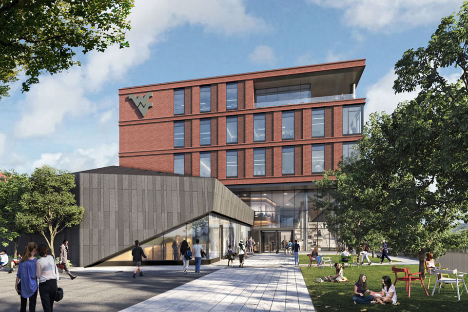 Reynolds Hall, the new home for the John Chambers College of Business and Economics, will open in 2022.