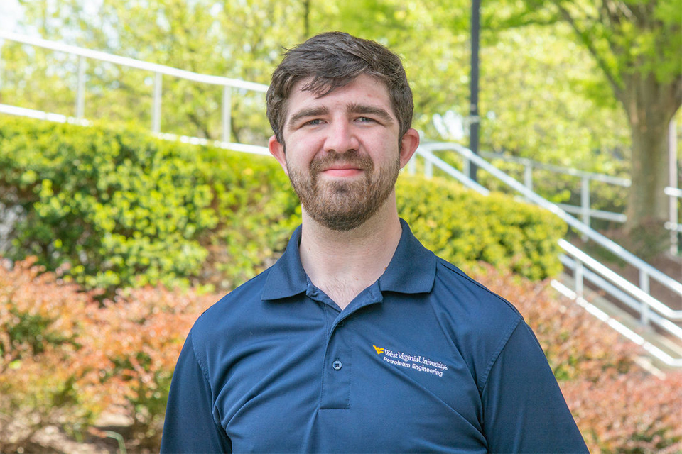 Josh Dietz, WVU graduate student who uses Halliburton's ARIES petroleum economics in his coursework and GOHFER fracture modeling software in his research.