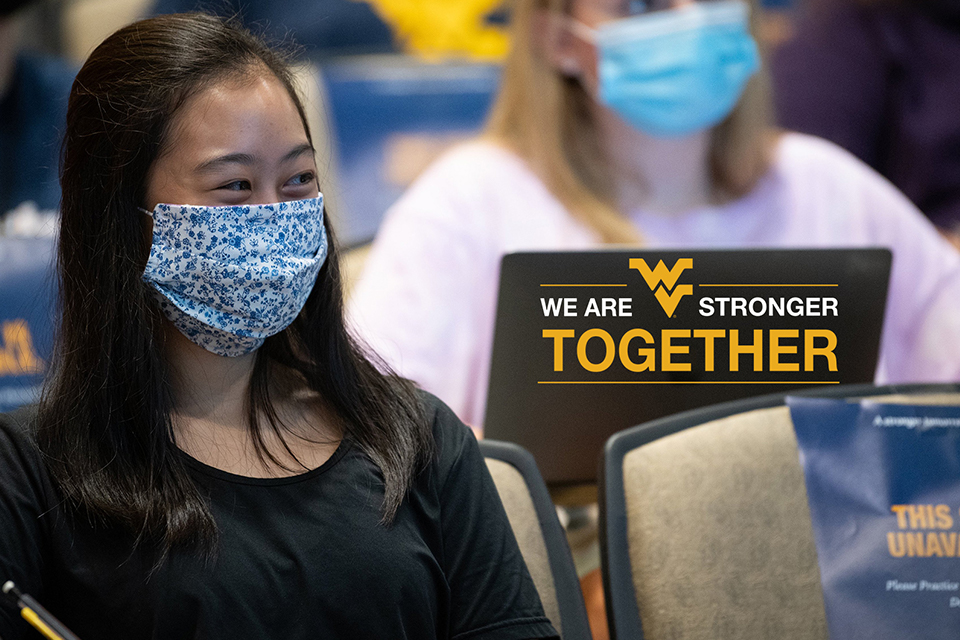 """As of late December 2020, 254 WVU students had been awarded $280,863 in scholarships for the 2020-'21 school year via """"We Are Stronger Together,"""" a special fundraising initiative launched by the WVU Foundation."""