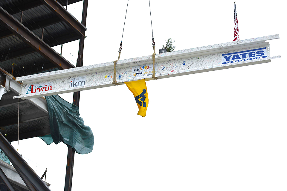 WVU Medicine commemorated the placing of the final steel beam on the new nine-story WVU Medicine Children's Hospital during a virtual topping out ceremony.