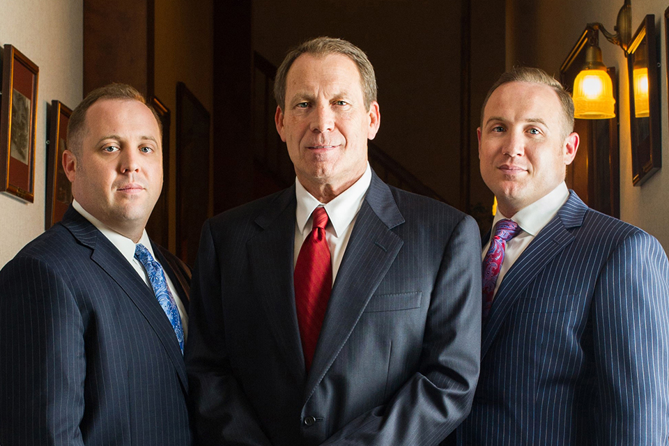 Attorneys (left to right) Rocky Fitzsimmons, Bob Fitzsimmons and Clayton Fitzsimmons have established a litigation and advocacy center at the WVU College of Law.