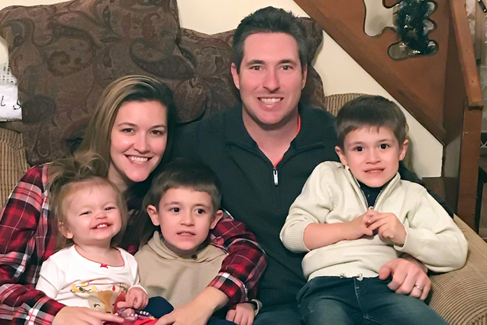 Jedd Gyorko and his family