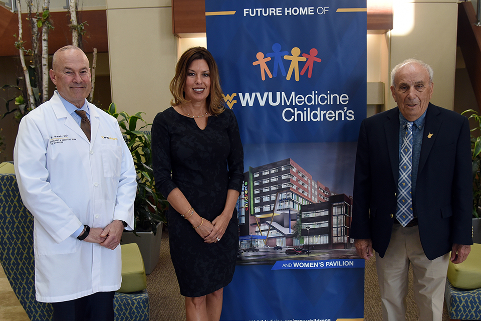 (L-R) VP & Executive Dean for Health Sciences Dr. Clay Marsh, VP of Clinical Operations for WVU Medicine Amy Bush-Marone and Mike Ross