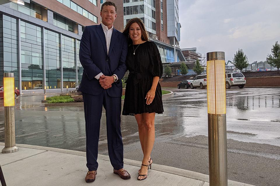 Justin Thompson, CEO of Iron Senergy, LLC, and Amy L. Bush, B.S.N., M.B.A., R.N., C.N.O.R., chief operating officer for WVU Medicine Children's